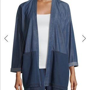 Eileen Fisher denim kimono.